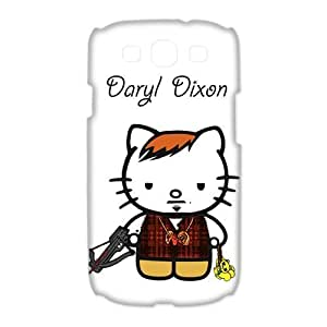 Daryl Dixon Hello Kitty Funny Norman Reedus Samsung Galaxy S3 Hard Case Back Cover Protective Cases Shell at NewOne