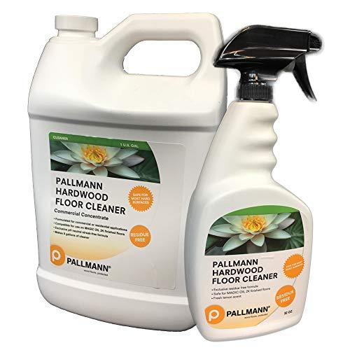 (Pallmann Pallman Hardwood Floor Cleaner 1gl Concentrate 128 oz Hardwood Floor Cleaner 32 fl oz Spray Bottle)