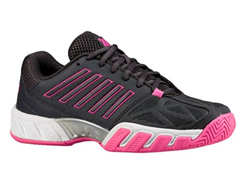 K-Swiss Bigshot Light 3 Womens Tennis Shoe (Magnet/Neon Pink/White, 6.5 M US)