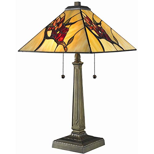 Serena d italia Tiffany-style Floral Mission Table Lamp
