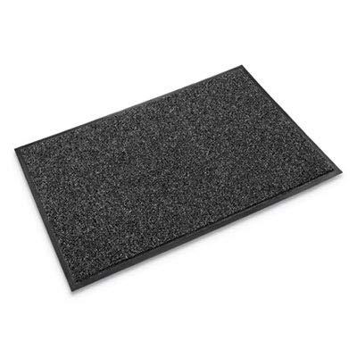 Crown CS0035GY Cross-Over Indoor/Outdoor Wiper/Scraper Mat, Olefin/Poly, 36 x 60, Gray