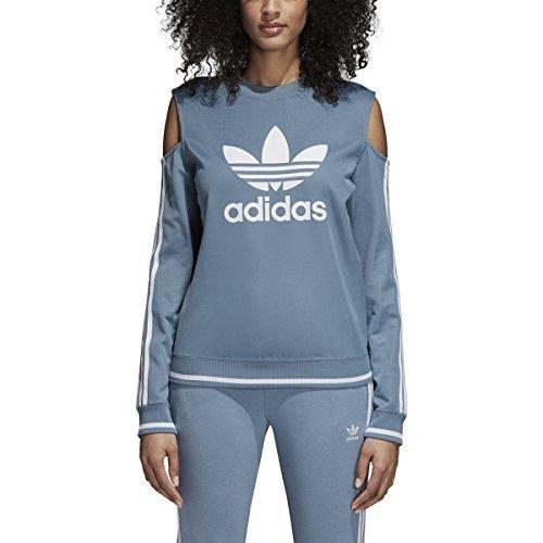 Adidas Women Originals Cutout Sweater (M, Raw Grey)