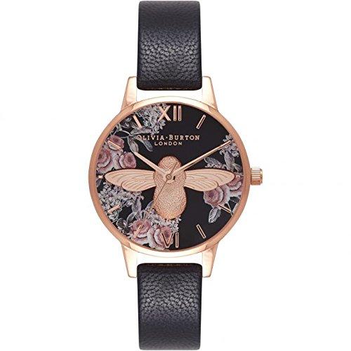 Olivia Burton Reloj Analógico para Mujer de Cuarzo con Correa en Cuero OB16AM100: Amazon.es: Relojes