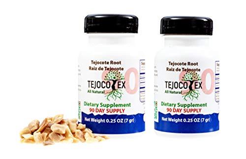 Tejocotex Raiz de Tejocote Root 2 Bottles 6 Month Supply AlipoTecojote Supplement Guaranteed Pure Root Supplement 6 Meses Raiz de Tejocote - 180 Count Root