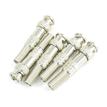 eDealMax 5 piezas de soldadura sin Primavera BNC RF Conector Para Cable coaxial
