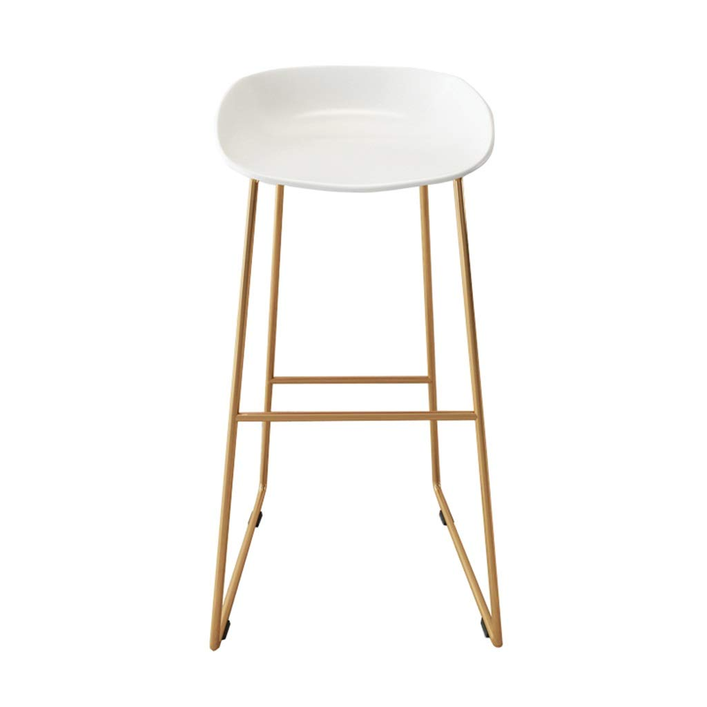 White 45x45x75cm Barstools Chair Barstools Modern Simplicity gold Footrest Bar Stools Contemporary Iron Chair Metal High Stool PP Plastics Seat Suitable for Kitchen Dining Chair Business Office Restaurant