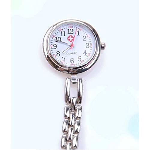 Amazon.com: KEANER Smiling Faces Heart Clip-On Pendant Nurse Fob Brooch Pocket Watch (Blue): Sports & Outdoors