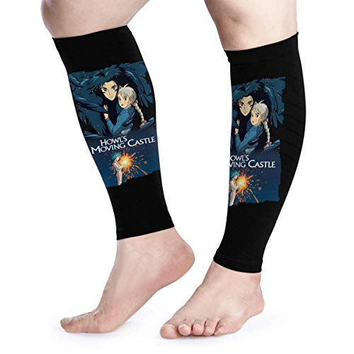 Calf Compression Sleeves Howl's Moving Castle Leg Support Socks for Women Men 1 Pair