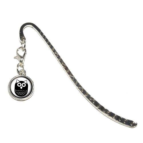 owl-black-hooter-metal-bookmark-page-marker-with-charm