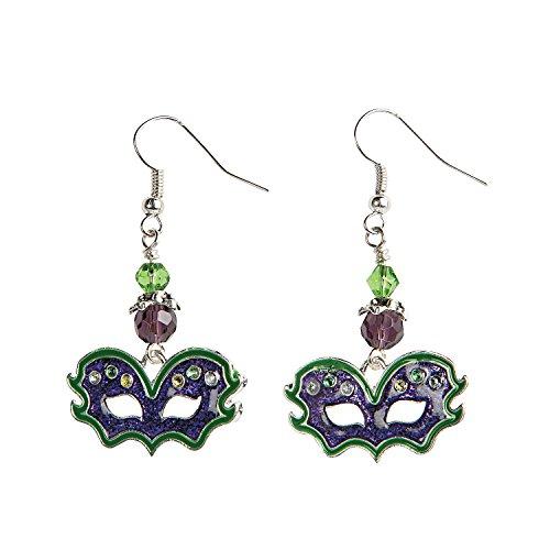 Mardi Gras Mask Earrings Craft -