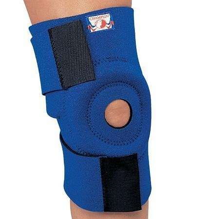 Champion Professional Neoprene Knee Wrap with Encircling Stabilizer Pad One Size - 3PC
