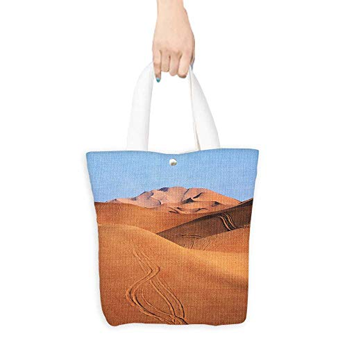 Personalized Pattern Custom Shopping Bag Morocco Sand dunes of Sahara desert (W15.75 x L17.71 Inch)