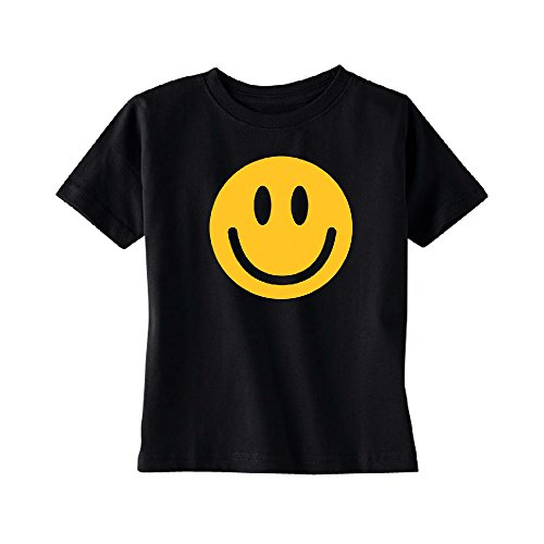 Funny Smiley Face Super Emoji TODDLER T-shirt Quality Print Kids Black 3T Fast Black T-shirt