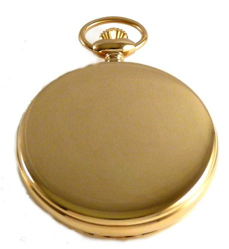 Dueber Swiss Mechanical Pocket Watch, High Polish Gold Hunting Case, Assembled in USA!