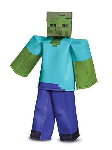 Disguise Zombie Prestige Child Costume, Green, Large/(10-12)