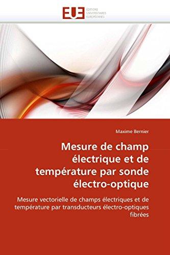 Mesure de champ électrique et de température par sonde électro-optique