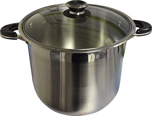 Ballington 24 Quart Stainless Steel Stock Pot with Glass Lid