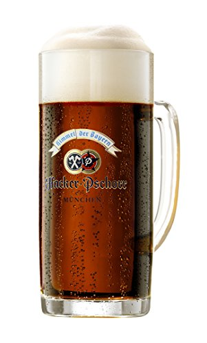 Hacker Pschorr Glass Beer Mugs 0.5 Liter | Set of 2 Mugs | Made in Germany