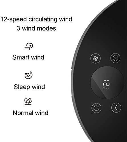 Kaodian Staande ventilator, zwart, in hoogte verstelbaar, 85 graden, standventilatoren, 12 snelheden, 12 uur timer, met afstandsbediening, voor kantoor, slaapkamer, woonkamer kY7O8Sdi