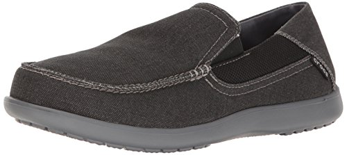 Crocs Men's Santa Cruz 2 Luxe M Slip-On Loafer, Black/Charcoal, 12 D(M) US