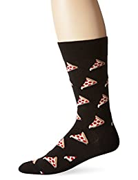Hot Sox Men's Pizza Crew Socks