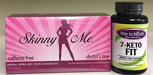 7-Keto Fit & Skinny Me Tea Kit for Weight-loss, Detox, Cleansing - 7-Keto® Promotes Weight and Fat Loss.