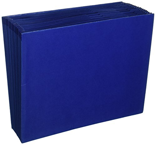 "Wilson Jones Colorlife Recycled (50%) Expanding File without Flap, Letter Size, 18"" Expansion, Dark Blue, WCCC17A-BL"