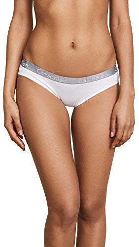 Calvin Klein Women's 3 Pack Radiant Bikini Panty, Grey/White/Black, X-Large