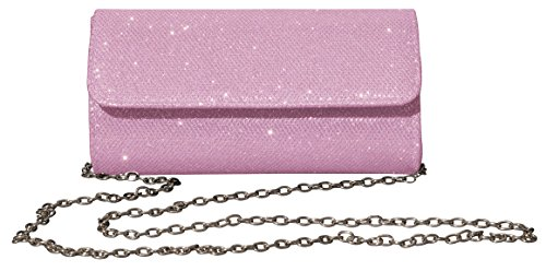 Outrip Women's Evening Bag Clutch Purse Glitter Party Wedding Handbag with Chain (Pink) by Outrip