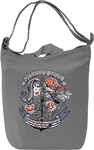 Pirate's love Borsa Giornaliera Canvas Canvas Day Bag| 100% Premium Cotton Canvas| DTG Printing|