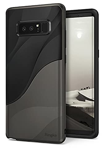 Samsung Galaxy Note 8 Phone Case Ringke [WAVE] [Metallic Chrome] Dual Layer Heavy Duty Textured Shock Absorbent PC TPU Full-Body Drop Resistant Protection Ergonomic Design Cover for Galaxy - Navy Blue Chrome Pen