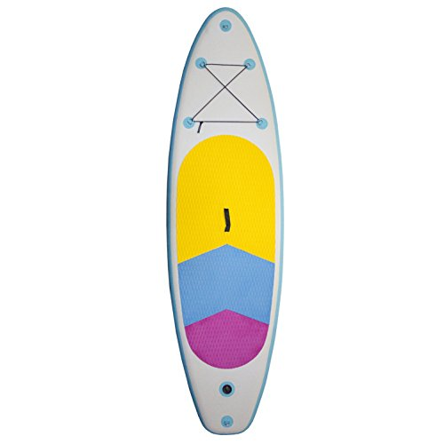Jet Creations Inflatable Stand Up Paddle Board, White/Teal