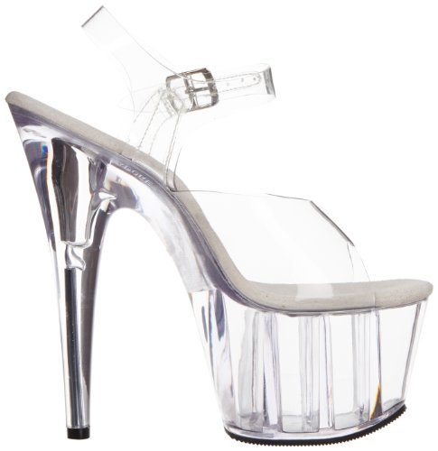 Adore Clear Strap 708 Women Clear Pleaser Ankle 1AqRRp
