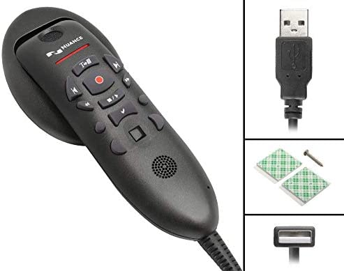 Nuance PowerMic III Microphone for Dragon (Non-Healthcare), 9 Ft Cord, Dictate Documents and Control your PC – all by Voice, [PC Disc]