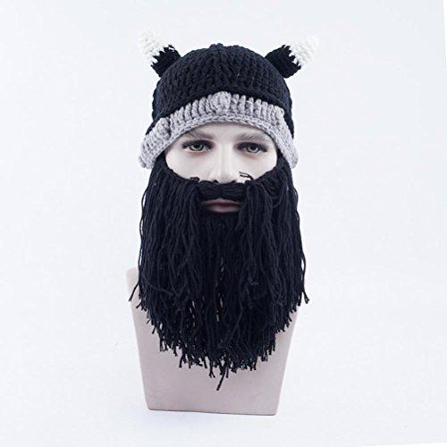 Nero Gorras Gorras Sombreros Beanie Halloween Invierno Bearded Punto Gorros Vagabond Gracioso De Unisex 7TqO4nw