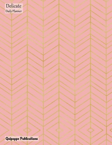 Zig Zag Kitty - Delicate Daily Planner: Large 2018 Q3 Organizer October To December With Daily Spreads And To Do List With Gold Zig Zag Pattern on Pink Cover