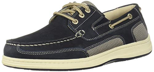 Dockers Men's Beacon Shoe, Navy, 11 M US (Leather Boat Shoes)