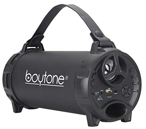 Boytone BT-40BK Indoor/Outdoor Speaker 2.1 Cylinder with Built-in SD Charger, Built
