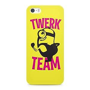 Loud Universe Minion Twerk Team Sleek Design Durable Wrap Around iPhone SE Case - Yellow