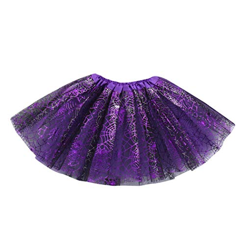 FORESTIME Toddler Baby Girls Halloween Costumes - Adorable Princess Tutu Ballet Skirts Fancy Party Skirt (D, 3-8 Years) ()