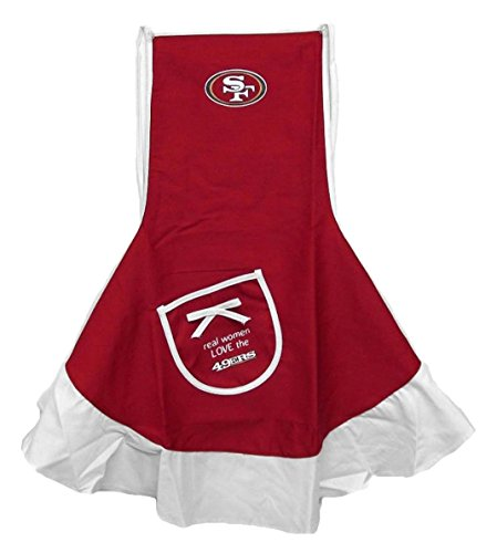 NFL San Francisco 49ers Logo Hostess Apron, One Size, Red