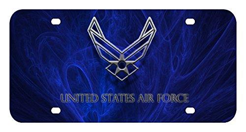 L175-USAF-AIR-FORCE-EAGLE-License-Plate-Front-Custom-Novelty-Tag-Vanity-Frame-Holder-Wrap-Wraps