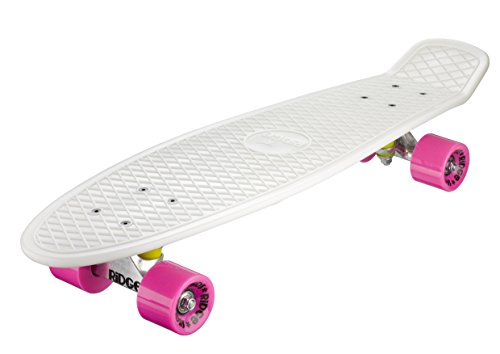 Ridge Skateboards Glow in Dark Big Brother Cruiser Skateboard - Pink, 27-Inch