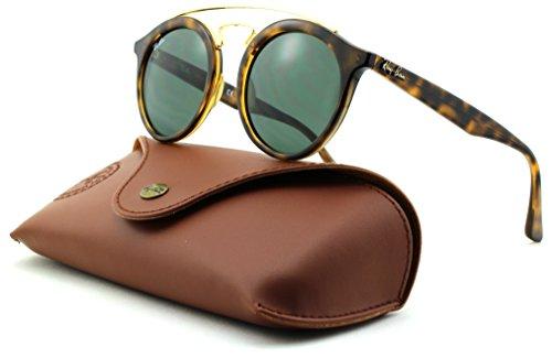 Ray-Ban RB4256 GATSBY Woman Round Sunglasses (Havana Frame/Dark Green Lens 710/71, - Ray Sunglasses Ban Gatsby