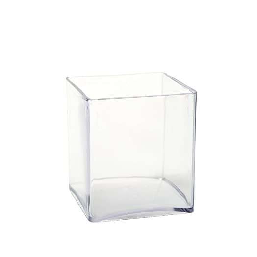 10cm Acrylic Cube Vase Amazon Kitchen & Home