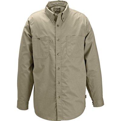Gravel Gear Wrinkle-Free Long Sleeve Work Shirt with Teflon - Khaki, Medium by Gravel Gear (Image #2)