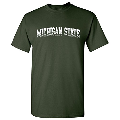 AS27 - Michigan State Spartans Arch Fade T-Shirt - X-Large - Forest