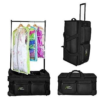 032970e7cc7e Closet Trolley Dance Bag with Garment Rack - BLACK DANCE DUFFEL