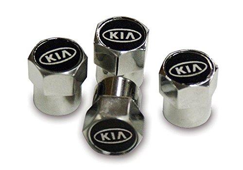 Kia, in metallo cromato, protezione antipolvere per valvola pneumatico 1234-Buy