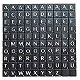 Alphabet Fliesen Schwarz mit weißen Buchstaben Art & Craft Spiel von London Heritage